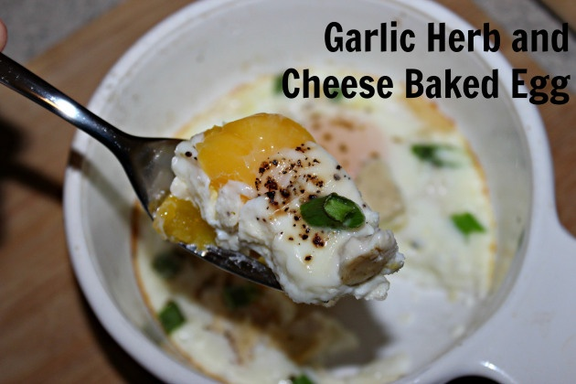 Garlic Herb and Cheese Baked Egg. | Recipes and more! | Pinterest