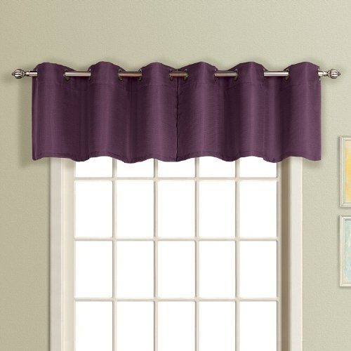 American Curtain and Home Foxborough Window Treatment Valance, 54-Inch ...