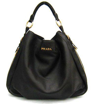 06dd94a8a3d8 Prada Bag Leather Hobo Black Br4099 | Stanford Center for ...
