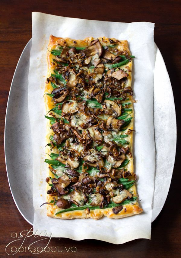 Green Bean Mushroom Tart recipe from A Spicy Perspective