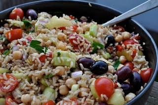 Brown Rice and Chickpea Salad | Healthy Recipes | Pinterest