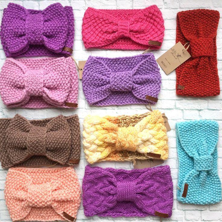 Вязание спицами повязка для девочки