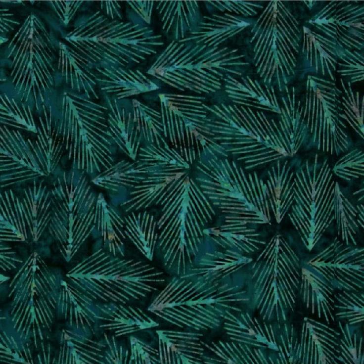 Batavian Batik Pine Sprigs | Arts & Crafts: Fabric: Batik | Pinterest