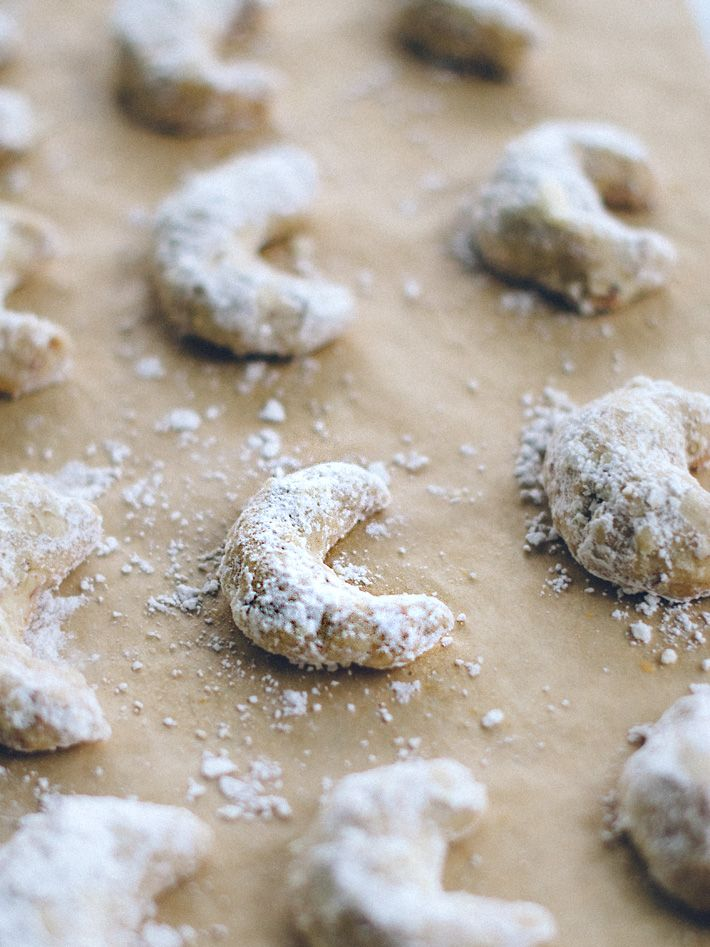 Almond Crescent Cookies Recipes — Dishmaps