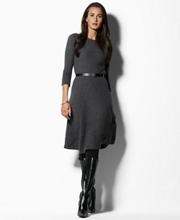 A Line Sweater Dress 73