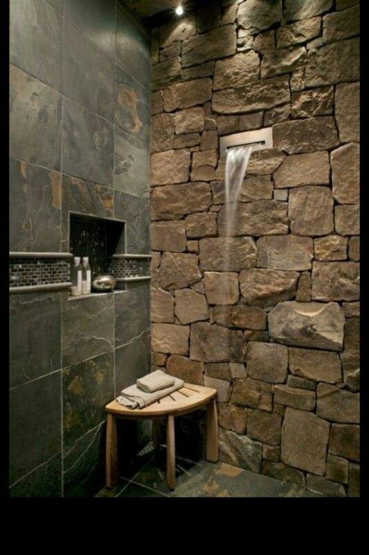 Slate Tile Bathroom Wall Kitchen Bath Pinterest