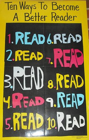 Top ten ways to become a better reader...