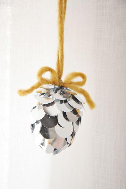 DIY Pinecone Ornament by Skunkboy Creatures., via Flickr
