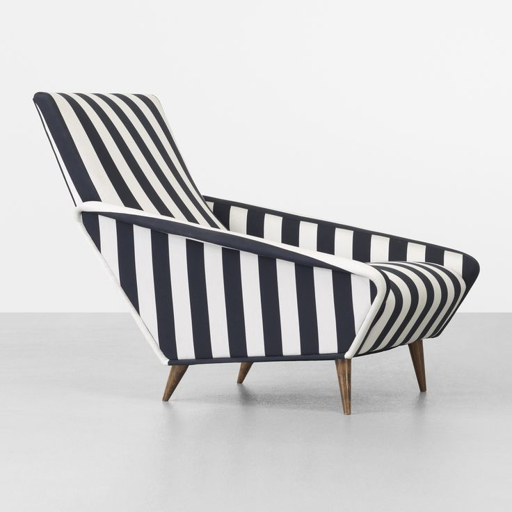 black white striped chair