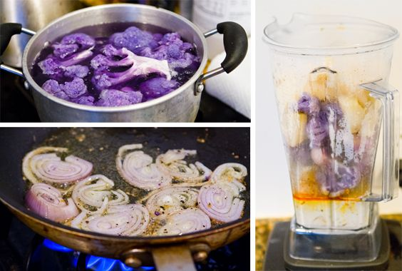purple cauliflower soup! | I must cook this | Pinterest