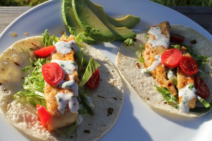 Cilantro-line fish tacos. | Favorite Recipes | Pinterest