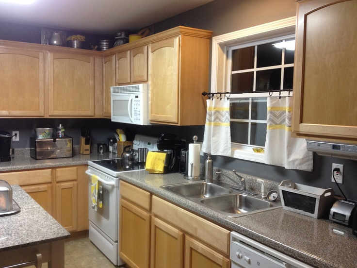 Grey and yellow kitchen home decor pinterest for Yellow and gray kitchen