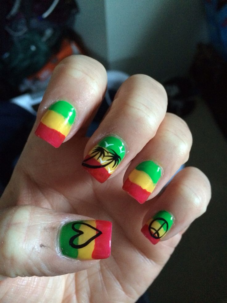 Perfect Jamaican Nail Art Designs Embellishment - Nail Paint Design ...