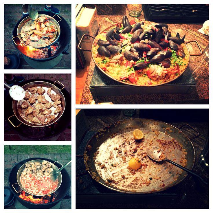 Seafood and chicken paella   Yummy Stuff   Pinterest