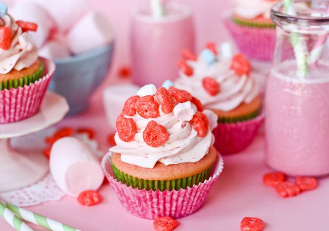 with strawberry marshmallow filling, topped with strawberry frosting ...