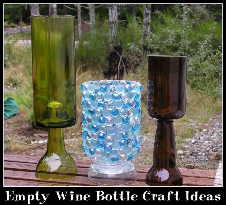 Empty wine bottle craft ideas for Bottle craft