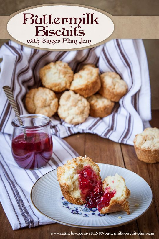 Buttermilk Biscuit Muffins with Ginger Plum Jam | Recipe