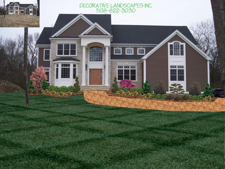 Landscape design new home front of home landscape for New home garden ideas
