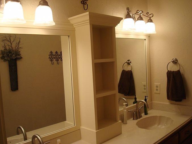 revamp that large bathroom mirror hometalk
