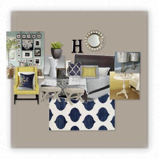 bedroom colors blue yellow grey home design pinterest
