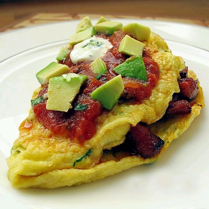 Southwestern Omelet   Foods   Pinterest