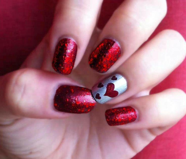 Cute V Day Nail Art : Valentines day nails nail art