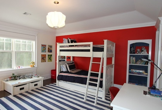 Pin by avry byington on tiffany 39 s new house pinterest - Blue and red boys bedroom ...