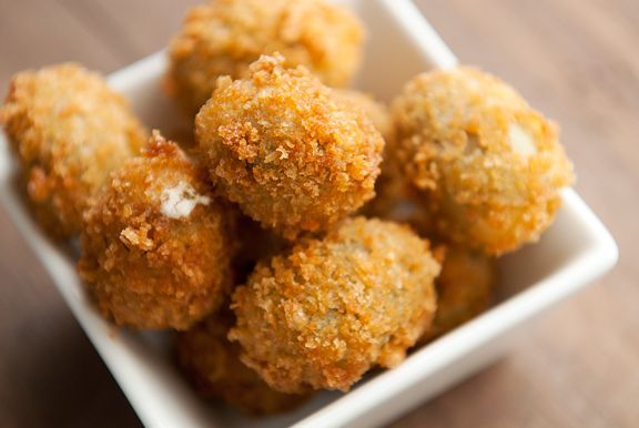 fried stuffed olives recipe (I want to try this with black olives ...