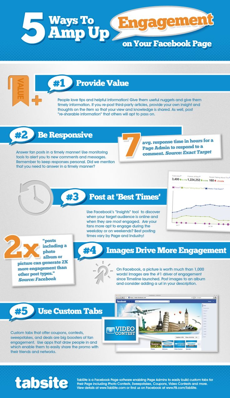 Keep it simple! 5 Ways to Amp Your Facebook Page Engagement from TabSite.com