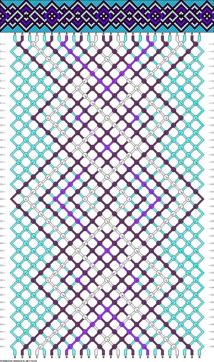 Схема плетения бисером фенечек