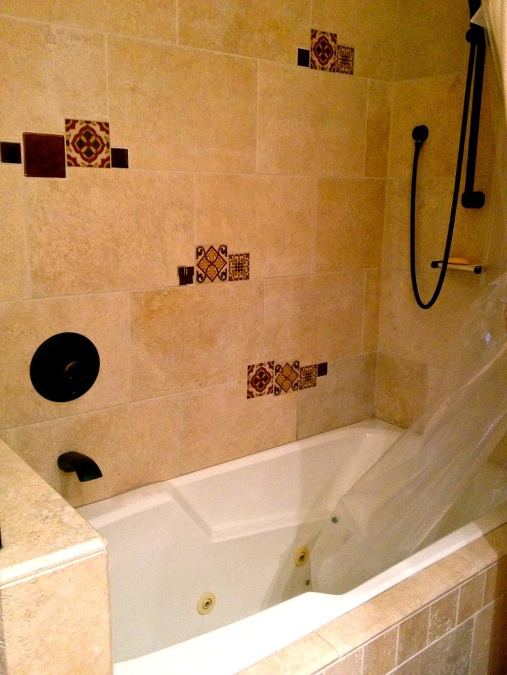 Pin by talavera ceramic tile studio on tiles in bathrooms pintere - Bathroom tiles talavera ...