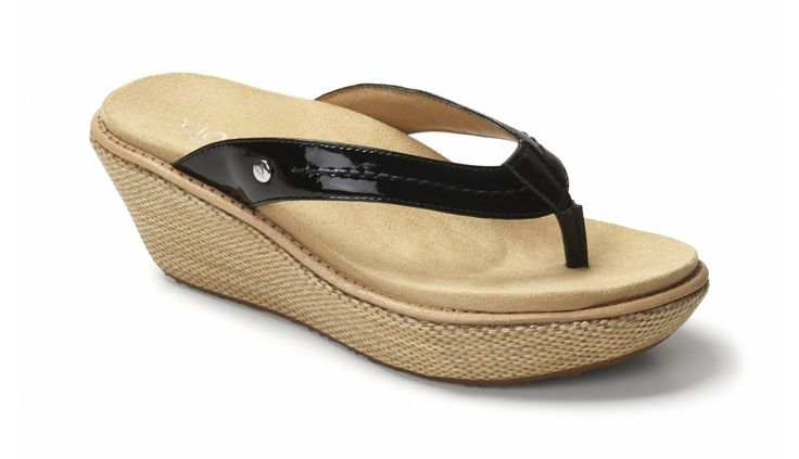 Grenada Toe Post Wedge - Sandals - Women