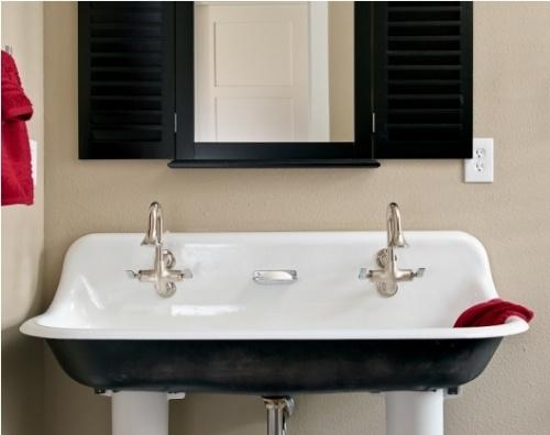 awesome wall mount trough sink scrub a dub dub Pinterest