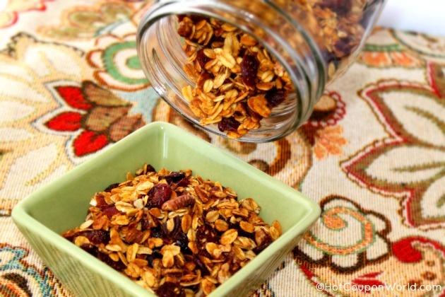 Cranberry Orange Granola Recipe | HotCouponWorld.com™