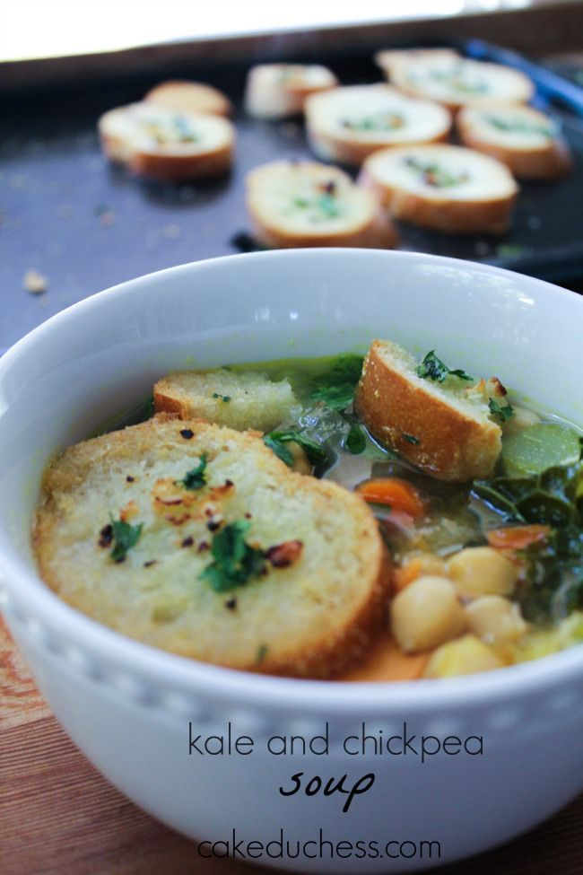 kale and chickpea soup | @cakeduchess