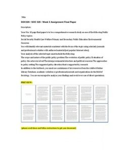 Policy White Paper