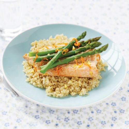What's for dinner tonight? How about Orange Salmon with Asparagus ...