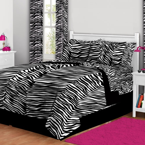 Latitude zebra print complete bed in a bag bedding set Zebra print bedding