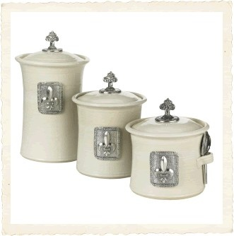 fleur de lis canisters cajun new orleans anything
