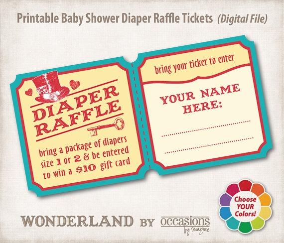 baby shower diaper raffle tickets baby pinterest