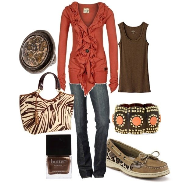 safari, created by lagu on Polyvore...love the sweater