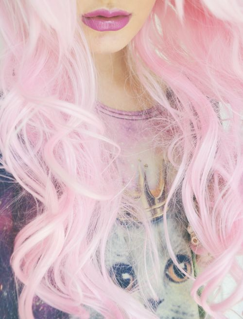 pink curly hair hair ideas pinterest