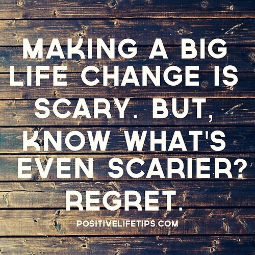 """ Making a big life change is scary. But know what's even scarier? REGRET."" #Chitrchatr #EarlySubscribersPromo"