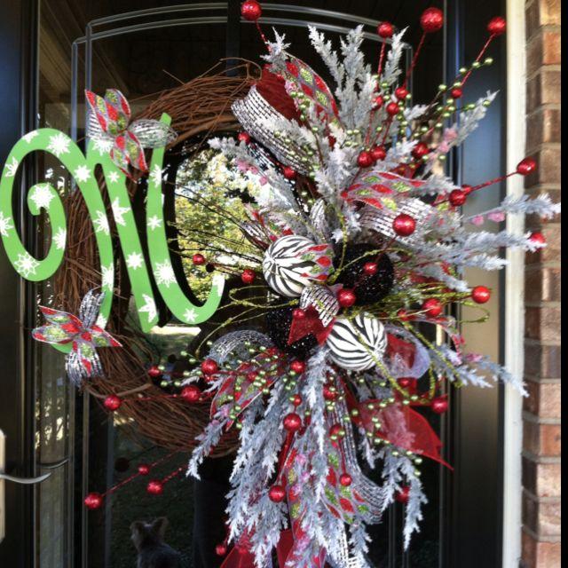 Christmas wreath | craft ideas | Pinterest