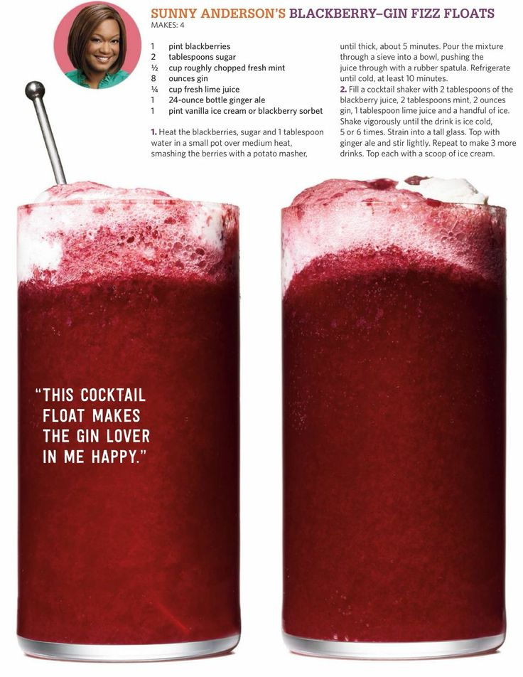 Blackberry gin fizz float | Drinky Drinks | Pinterest