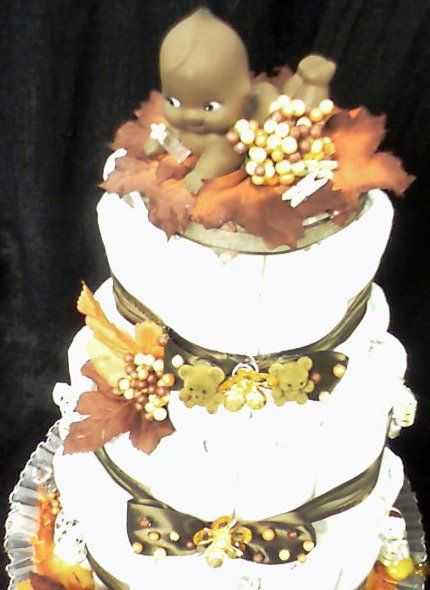 diaper cake fall colors baby shower ideas pinterest
