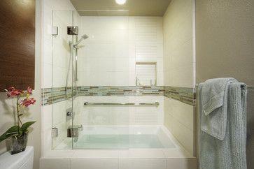 Tub Shower Combo Glass Door Hinges Open ROYER Pinterest