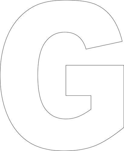 Geeky image inside printable letter g
