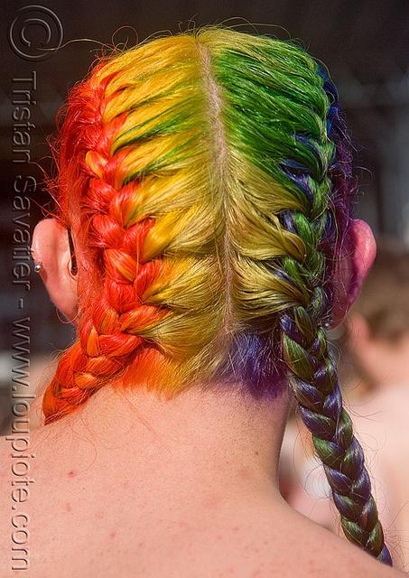 Rainbow Hair Braids   ROYGBIV   Pinterest Rainbow Braids