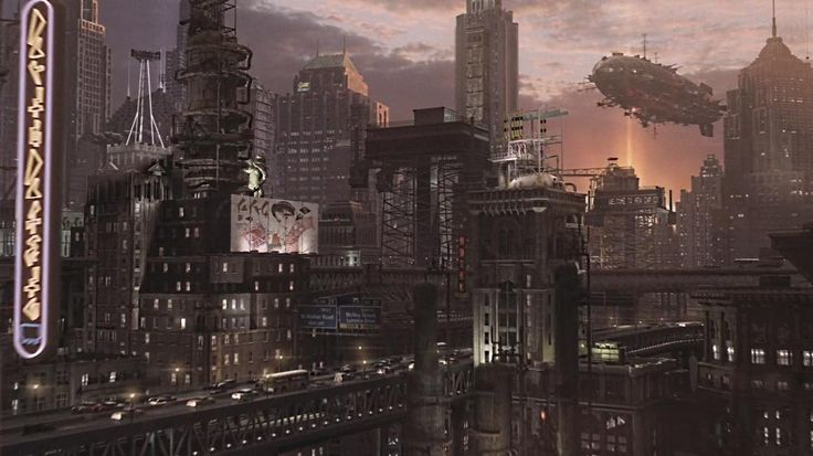 Caprica City Dieselpunk Wallpaper